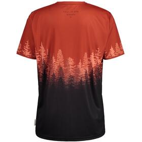 Maloja DrachenkopfM. Multi 1/2 Short Sleeve Multisport Jersey Men, rojo/negro